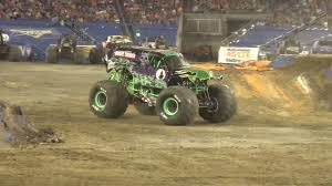100 Monster Trucks Nashville Grave Digger Driver Adam Andersons Freestyle 2017 YouTube
