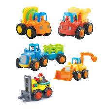 100 Trucks For Toddlers Huile Set Of 4 Friction Powered Car ToysTractorDump TruckCement