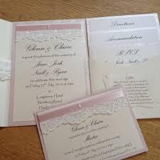 Pink Ivory Pocketfold Wedding Invitation