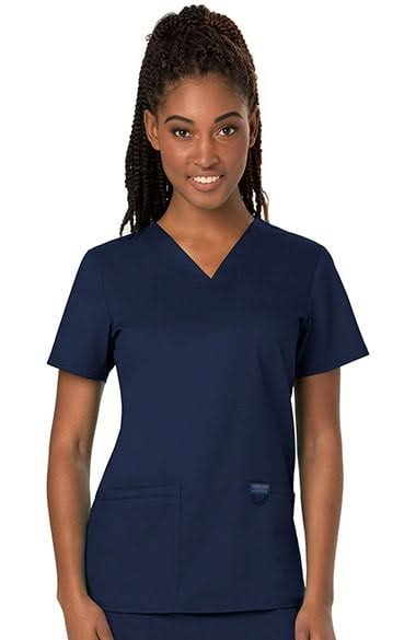 Cherokee Workwear Revolution V-Neck Scrub Top - M - Navy