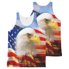 Bald Eagle And The American Flag All Over Print Tank Top