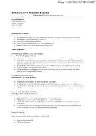 Sample Resume Summary For Executive Assistant Administrative Medical Resumes Certified