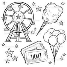 Carnival Games Black And White Clipart Kid