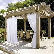 Sunbrella Curtains With Grommets by Amazon Com Outdoor Curtains Patio Lawn U0026 Garden