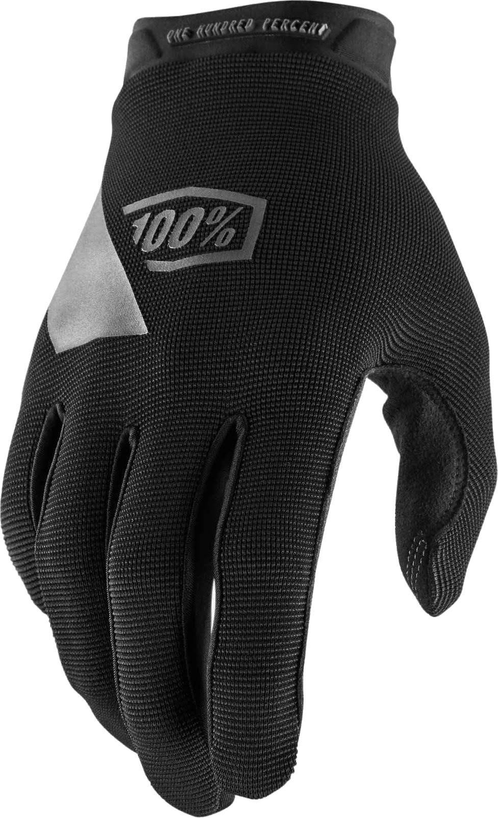 100% Ridecamp Men's Cycling Full Finger Glove - Black, X-Large