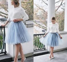 short light blue tutu bridesmaid dresses cheap skirts a line