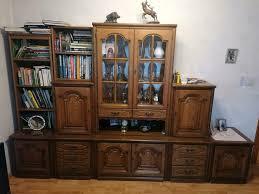 wohnzimmerschrank eiche rustikal massivholz vintage