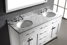 48 Inch Double Sink Vanity White by Virtu Usa Md 2060 Wmro Wh Caroline 60 Inch Bathroom Vanity With