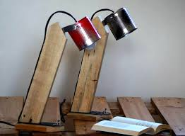 Wooden Pallet Table Lamp