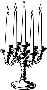 Free Clipart Of A Candle Stick 0001660