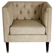 Burke Slipper Chair With Buttons by Tufted Arm Chair Nate Berkus Target