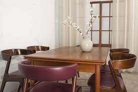 This Set Of Kai Kristiansen Dining Room Chairs Comprises Two End With Upholstered Backs And