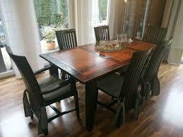 traumhaftes kolonialstil massivholz esszimmer 6 stühle tisch etc