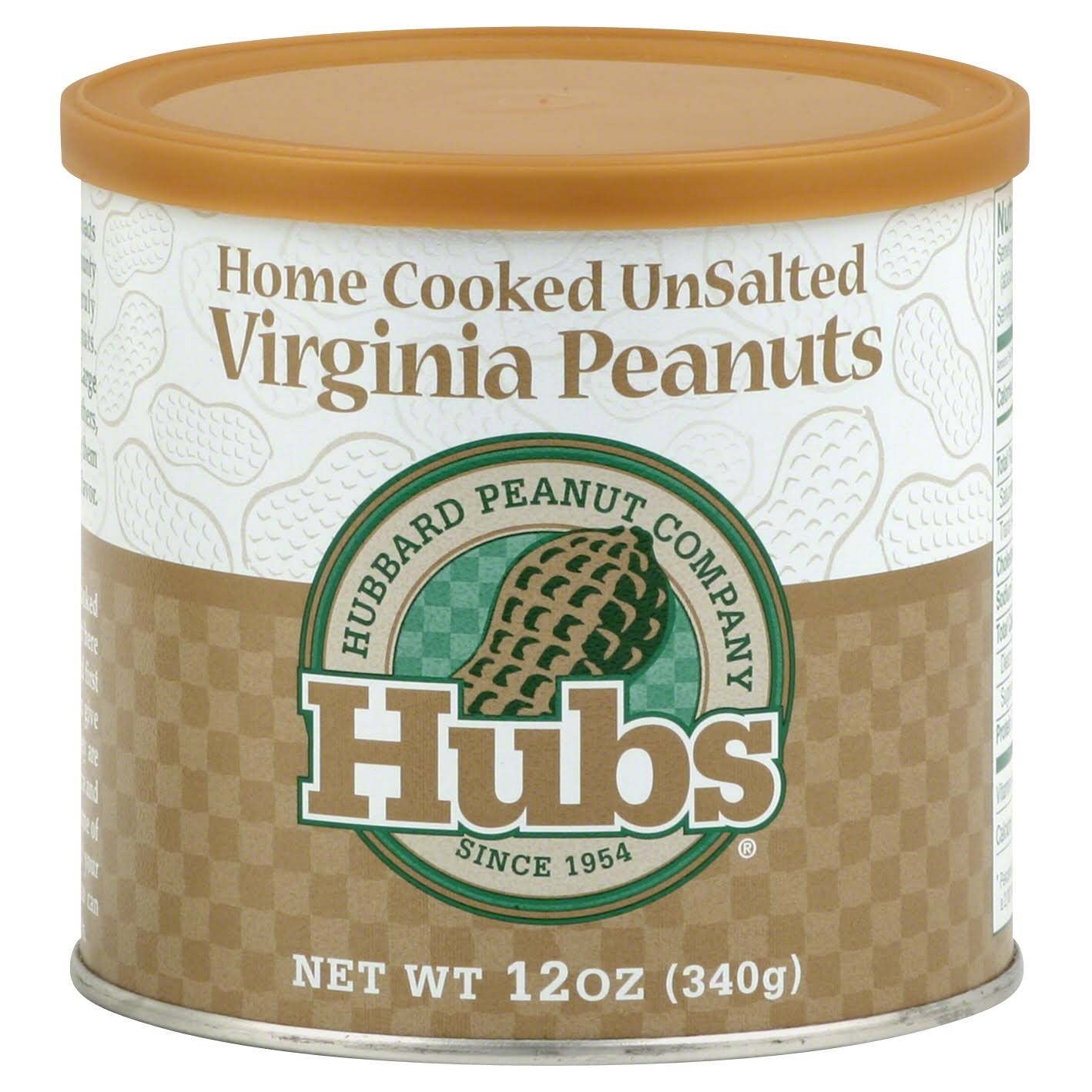 Hubs Home Cooked Virginia Peanuts - Unsalted, 12oz