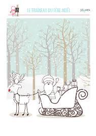 Coloriage Du Père Noël Et Son Traineau РаскраскиНовый год