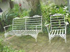 Vintage Wrought Iron Patio Furniture Woodard by Vintage Wrought Iron Patio Furniture Couch Chair Rocker W