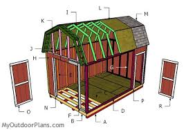 10 X 16 Shed Plans Gambrel by 10x16 Gambrel Shed Plans Myoutdoorplans Free Woodworking Plans
