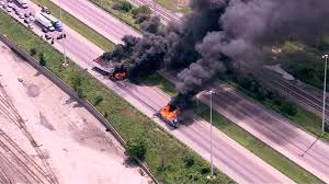 100 Truck Accident Chicago Fiery Twotruck Crash On I55 Near Halts Highway Traffic