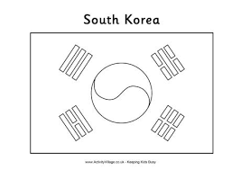 South Korea Flag Colouring Page