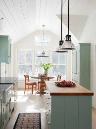 Inspiration For A Mid Sized Farmhouse Galley Eat In Kitchen Remodel New York