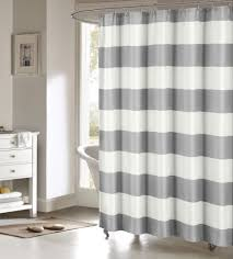 White And Gray Striped Curtains by Toto Gray Large White Stripes Striped Fabric Shower Curtain Duck