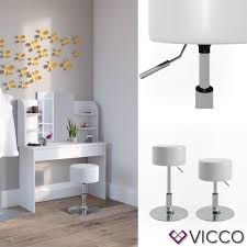vicco design hocker schminkhocker höhenverstellbar in weiß