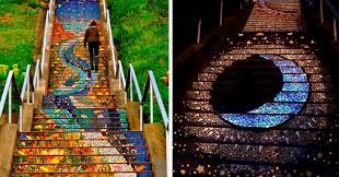 16th avenue tiled steps address these tiled steps in san francisco glow at from the