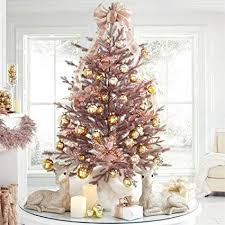 BrylaneHome 4 Rose Gold Christmas Tree