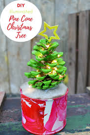 How To Make A Cute Illuminated Pine Cone Christmas Tree In Marble Pot This