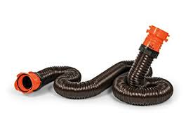 Camco RhinoFLEX 10ft RV Sewer Hose Extension Kit With Swivel Fitting Extend Your