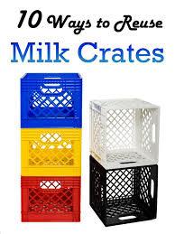 10 Creative Ways To Reuse Milk Crates DIYprojects Crate Storage IdeasStorage CratesPlastic