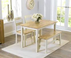 Small Dining Kitchen Set With Bench And Chairs Oak Large Room Ceiling Design