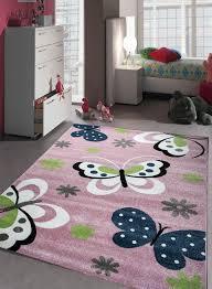 tapis de chambre fille tapis chambre enfant papillons bleu de la collection unamourdetapis