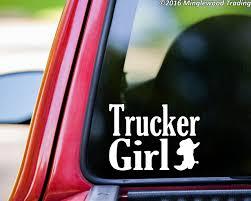TRUCKER GIRL Vinyl Decal Sticker 7.5