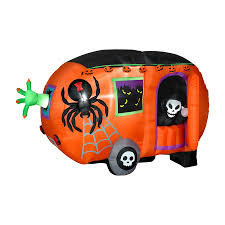 Halloween Airblown Inflatable Lawn Decorations by Shop Gemmy 4 8 Ft Internal Light Haunted House Halloween