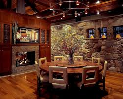 12 Photos Gallery Of Ideas Round Rustic Dining Table