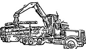 Get Free High Quality HD Wallpapers Logging Truck Coloring Page