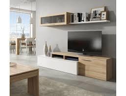 wohnzimmer set 200 cm glänzend weiß und eiche kanadische farbe glänzend weiß eiche helle