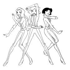Totally Spies Coloring Pages Coloring Pages