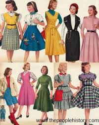 1950 Fashion Teen Girls