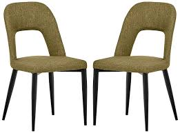 Rivet Florence Mid-Century Wide Open-Back Accent Dining Room Chairs -  18.8