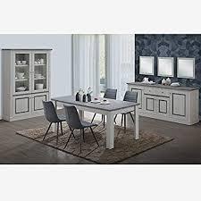 esszimmer komplett mit 4 stühlen farbe eiche hell und grau