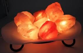 himalayan salt l glass bowl with fairy lights rebalance