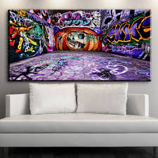 100 Pop Art Bedroom US 888 30 OFFXX412 Colorful Graffiti Street Pop Art Abstract Canvas Pictures Oil Art Painting For Livingroom Bedroom Decorationin Painting