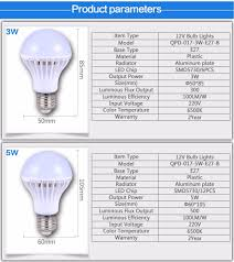 e27 energy saving led bulb lights dc 12v e27 led l 3w 5w 9w 12w