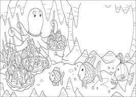 Rainbows Coloring Pages Rainbow Fish