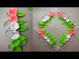 Simple Home Decor Wall Door Decoration Hanging Flower Paper Craft Ideas 33