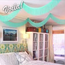 DIY Fringe Bed Canopy Bedroom Decor For Teen