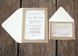 DIY Simple Rustic Cardstock Wedding Invitations By Alecia