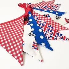 British Bunting Mini Cooper Decor Red White Blue Banner Car London Home Union Jack Fabric Nessa Foye